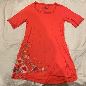 Johnny was 100% cotton with embroidery tunic